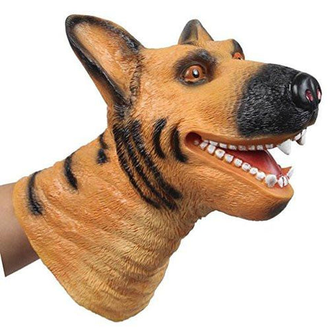 Toy - LightningStore Super Cute German Shepherd Hand Puppet For Story Telling Bedtime Story Stories Doll Realistic Looking Stuffed Animal Plush Toys Plushie Children's Gifts Animals