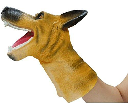 LightningStore Super Cute German Shepherd Hand Puppet For Story Telling  Bedtime Story Stories Doll Realistic Looking Stuffed Animal Plush Toys  Plushie