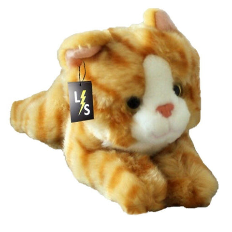 Toy - LightningStore Super Cute Orange And White Cat Doll Realistic Looking Stuffed Animal Plush Toys Plushie Children's Gifts Animals