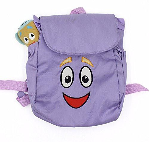 Toy - LightningStore Super Cute Purple Happy Face Cartoon Children School Bags Backpack Kindergarten Girls Boys Kid Backpack Cute Cartoon Toys