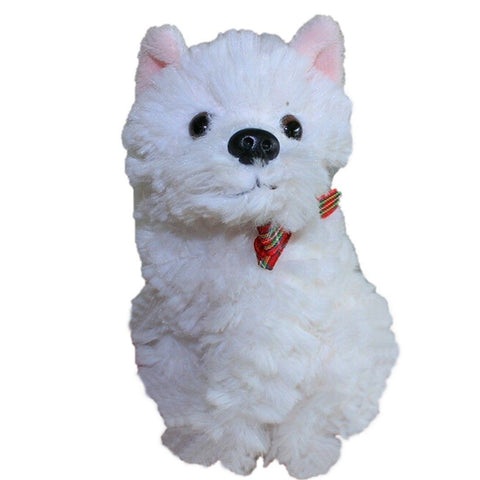 Toy - LightningStore Super Cute Small White Terrier Puppy Doll Realistic Looking Stuffed Animal Plush Toys Plushie Children's Gifts Animals ...