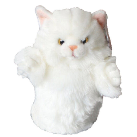 Toy - LightningStore Super Cute White Cat Hand Puppet For Story Telling Bedtime Story Stories Doll Realistic Looking Stuffed Animal Plush Toys Plushie Children's Gifts Animals ...
