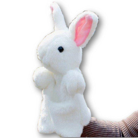 Toy - LightningStore Super Cute White Rabbit Hand Puppet For Story Telling Bedtime Story Stories Doll Realistic Looking Stuffed Animal Plush Toys Plushie Children's Gifts Animals