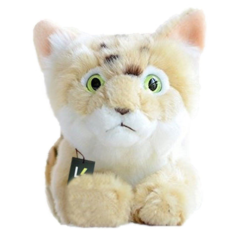 Toy - LightningStore WWF Dunes Rare Wild Cat Kitten Doll Realistic Looking Stuffed Animal Plush Toys Plushie Children's Gifts Animals