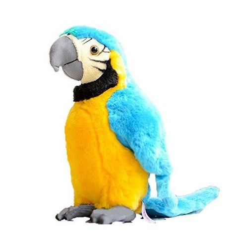 Toy - LightningStore Yellow And Blue Parrot Dolls Realistic Looking Stuffed Animal Plush Toys Plushie Children's Gifts Animals