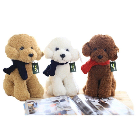 Toy - New Release!!! LightningStore 33CM Cute Dog Doll Teddy Dog Plush Toy Dog Doll Stuffed Animal Kawaii Simulation Plush Toy Birthday Girl Children