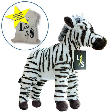 Toy - New Release!! LightningStore Cute Black And White Stripped African Zebra Doll Realistic Looking Stuffed Animal Plush Toys Plushie Children's Gifts Animals