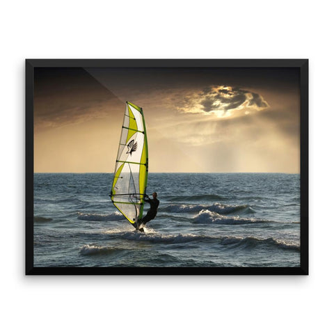 Wind Surfing Ocean Framed Photo Poster Wall Art Decoration Decor For Bedroom Living Room