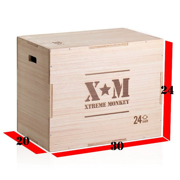 XM 3-in-1 Wood Plyometrics Box
