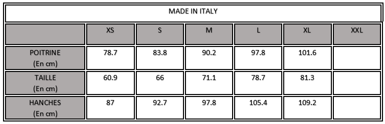 MADE IN ITALY CHARTE