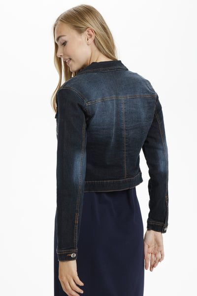 "JACKET JEANS ""LISA"" DENIM FONCÉ"