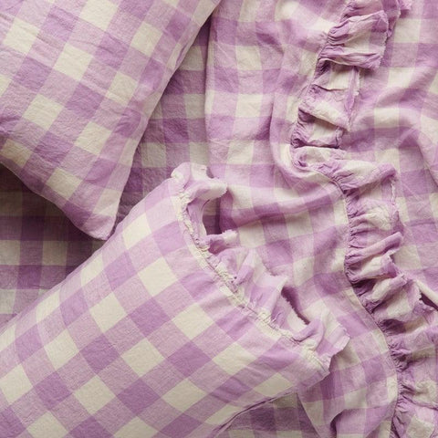 Society of Wanderers Lilac Gingham Sheets