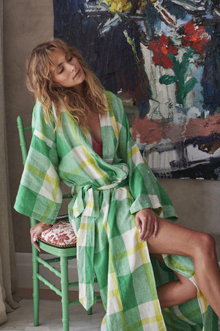 Society of Wanderers Zest Check Robe