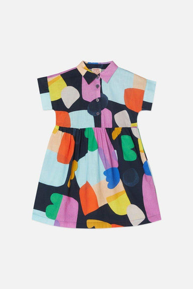 Gorman x Castle Little Colour Bits Shirt Dress (PRE-ORDER)-Girls Dress-Antipodream