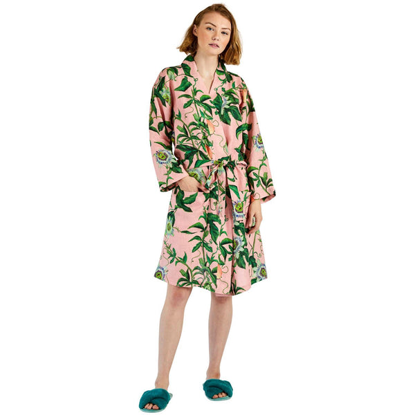 Kip & Co Bathrobe Kip & Co Passion Pink Linen Robe (PRE-ORDER)