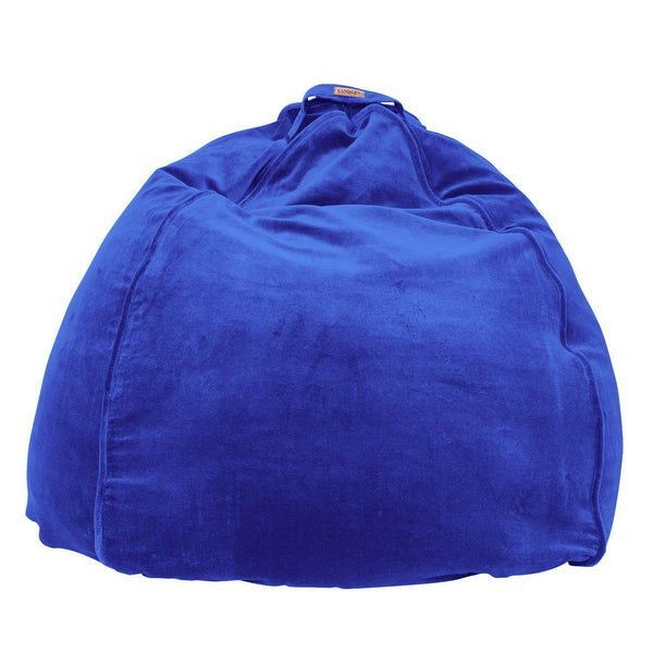 Kip & Co Bean bag Kip & Co Peacock Blue Velvet Beanbag