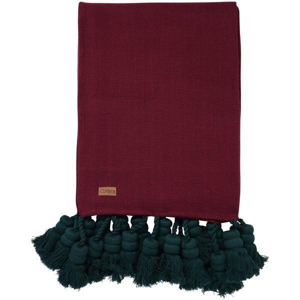 Kip & Co Blanket Kip & Co Beetroot Tassel Throw (PRE-ORDER)