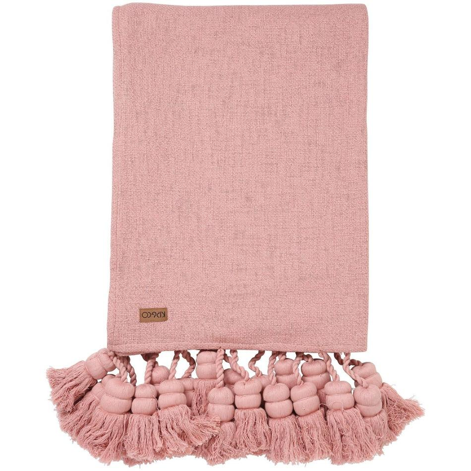 Kip & Co Blanket Kip & Co Misty Rose Tassel Throw (PRE-ORDER)