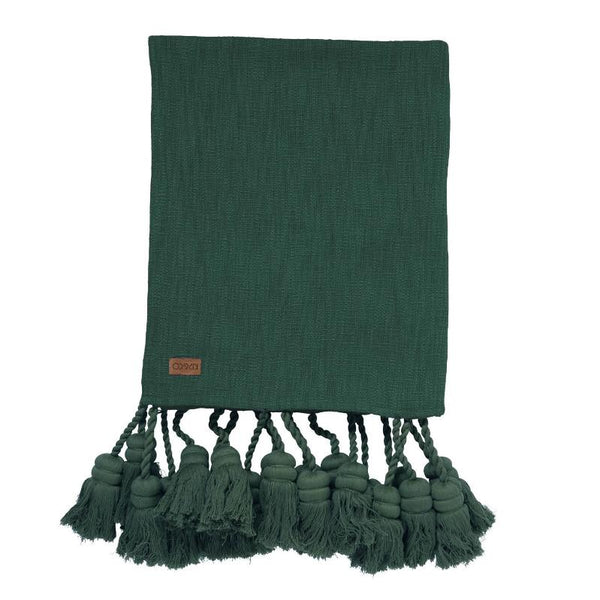 Kip & Co Blanket Kip & Co Pine Forest Tassel Throw
