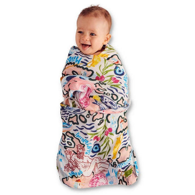 Kip & Co Greek Gods Bamboo Swaddle (PRE-ORDER)-Swaddles-Antipodream