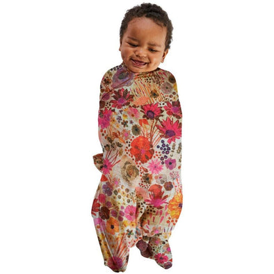 Kip & Co Mauve Field of Dreams Bamboo Swaddle (PRE-ORDER)-Swaddles-Antipodream