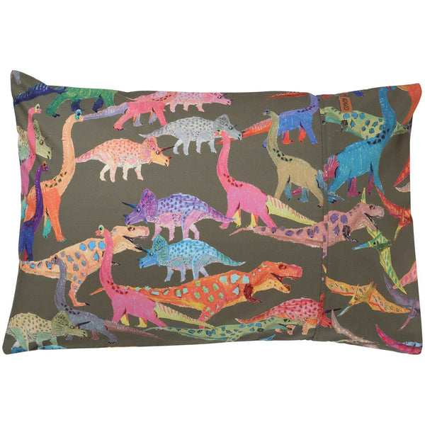 Kip & Co Pillowcase Kip & Co Dino Earth Cotton Pillowcase (PRE-ORDER)