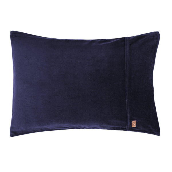 Kip & Co Pillowcase Kip & Co Navy Velvet Pillowcases 2P Set