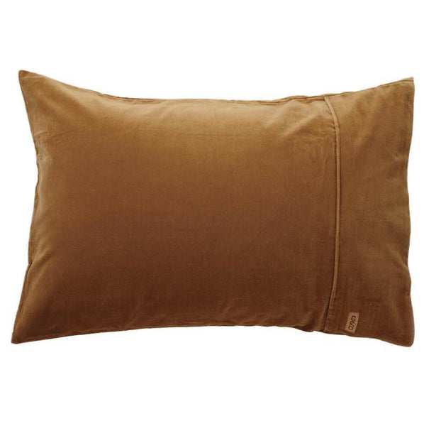 Kip & Co Pillowcase Kip & Co Scorched Almond Velvet Pillowcases (Set of 2)