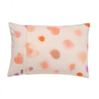 Kip & Co Pillowcase Kip & Co Sprayed Pinkie Velvet Single Pillowcase