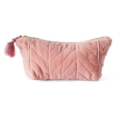 Kip & Co Shrimp Velvet Quilted Toiletry Bag (PRE-ORDER)-Cosmetic Bag-Antipodream