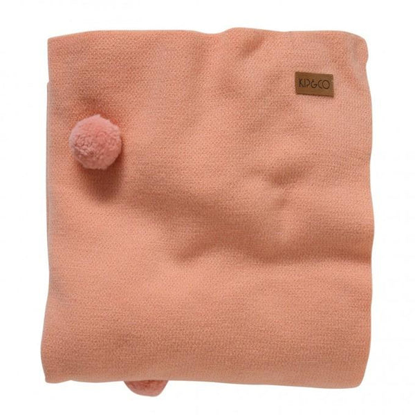 Kip & Co Throw Kip & Co Peach Pom Pom 100% Wool Blanket