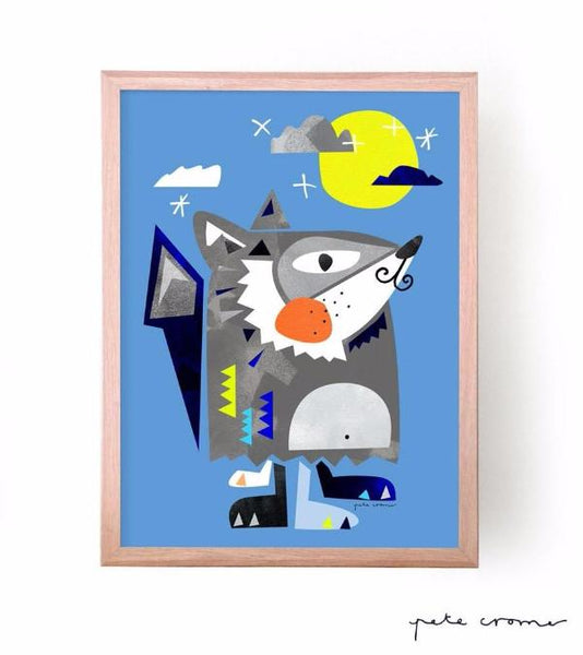 Pete Cromer Artwork and Prints The Big Bad Wolf print