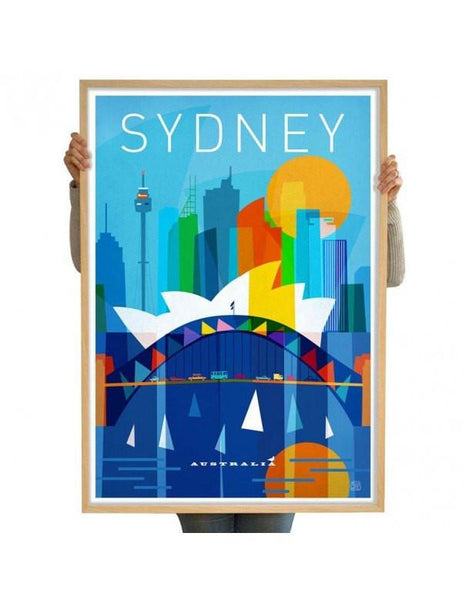 Printspace Artwork and Prints 70 x 100cm Limited Edition City Print - Sydney