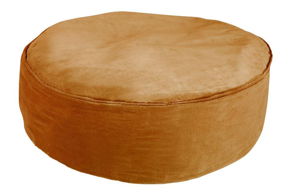 Rachel Castle Cushion Castle Jumbo Velvet Floor Cushion - Butterscotch