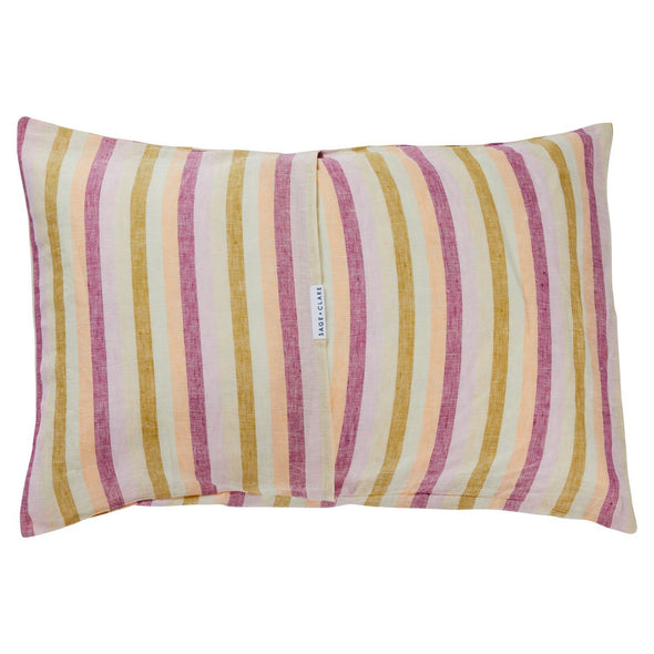 Sage and Clare Pillowcase Sage + Clare Linen Pillowcase Set - Clement Stripe
