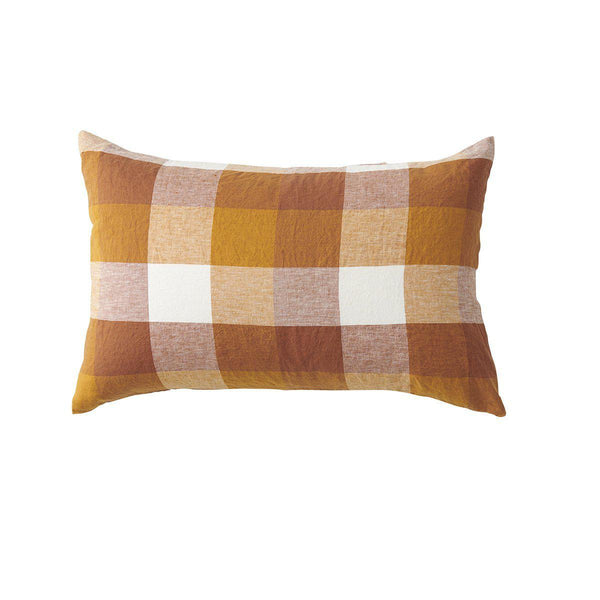 Society of Wanderers Pillowcase Standard Society of Wanderers Biscuit Check Pillowcase Set