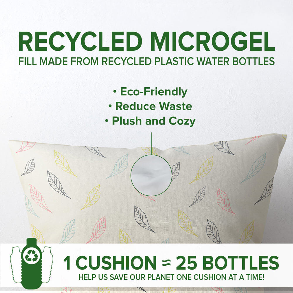 recycled fill decorative cushion