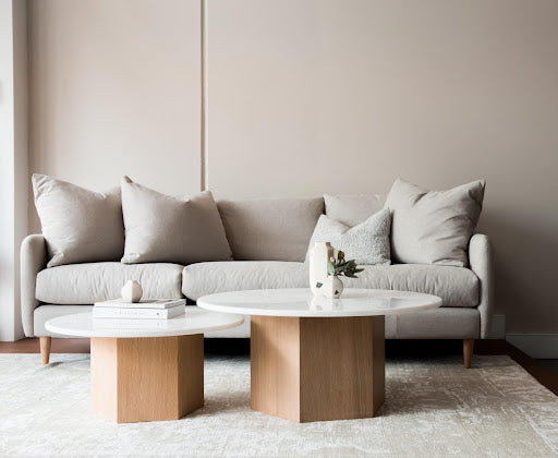Neutral decorative cushions are the perfect way to complete a simplistic home décor vibe