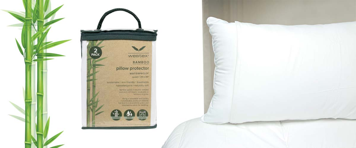 Westex bamboo pillow and mattress protectors are sustainable, breathable, eco-friendly and the perfect long-lasting bedding essential