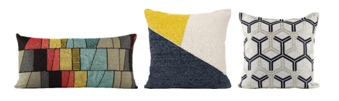 Westex's collection of geometric print decorative cushions