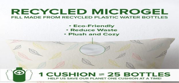 Infographic of Westex's recycled microgel decorative cushions