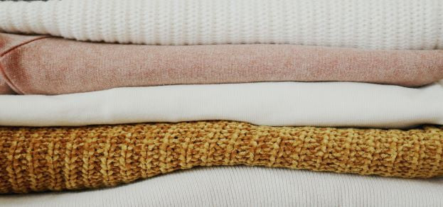 Fabrics in different textures and colours