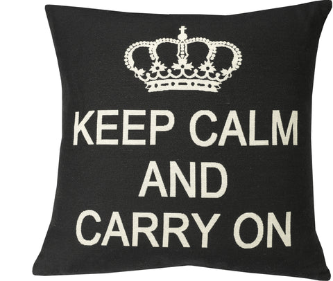 "Keep Calm 20x20""-Feather Filled"