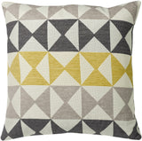 "Modern Yellow/Grey 20x20""-Feather Filled"