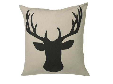 "Feather-Filled ""Deerhead"" Cushion"
