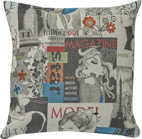 "Feather-Filled ""Magazine"" Cushion 20x20"""
