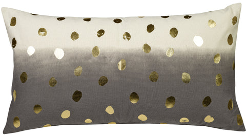 "Foil Black & Gold Dots 14x26""-Feather Filled"