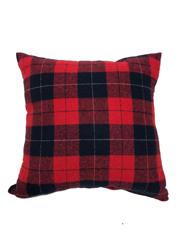 "Tartan Red 20x20"" - Feather Filled"