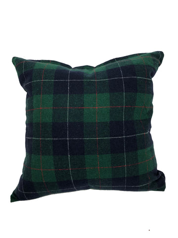 "Tartan Green 20x20"" - Feather Filled"