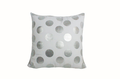 "Foil Dots Large Silver 18x18""-Polyester Filled"